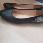 Czarne balerinki z kwiatami Baldaccini 38