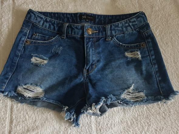 Jeansowe szorty cut