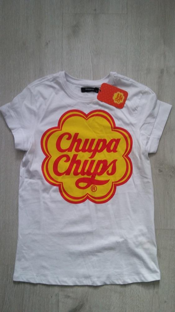 T shirt marki Reserved r S z napisem Chupa Chups...