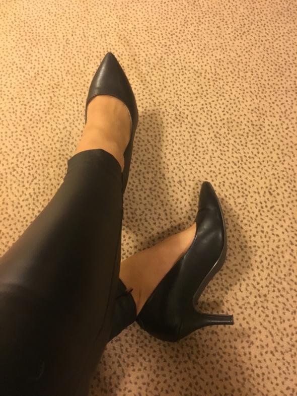 Vices czarne eleganckie szpilki obcasy buty na obcasie szpilce