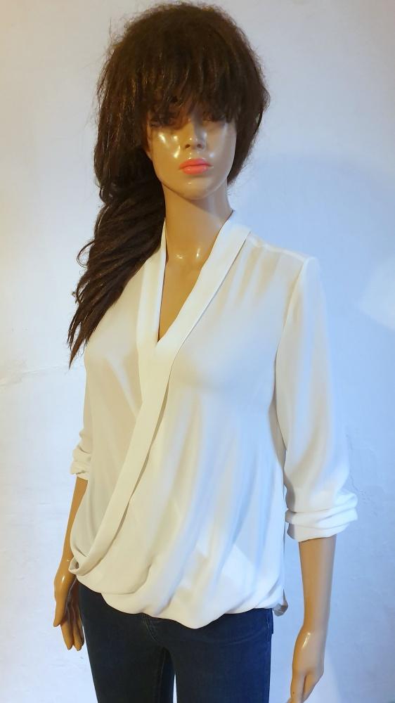 Koszule Biała lejąca koszula r XS