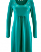 Bon Prix szmaragdowa sukienka z cekinami...