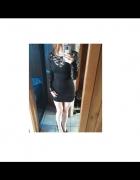 Czarna sukienka z koronką u góry XS...