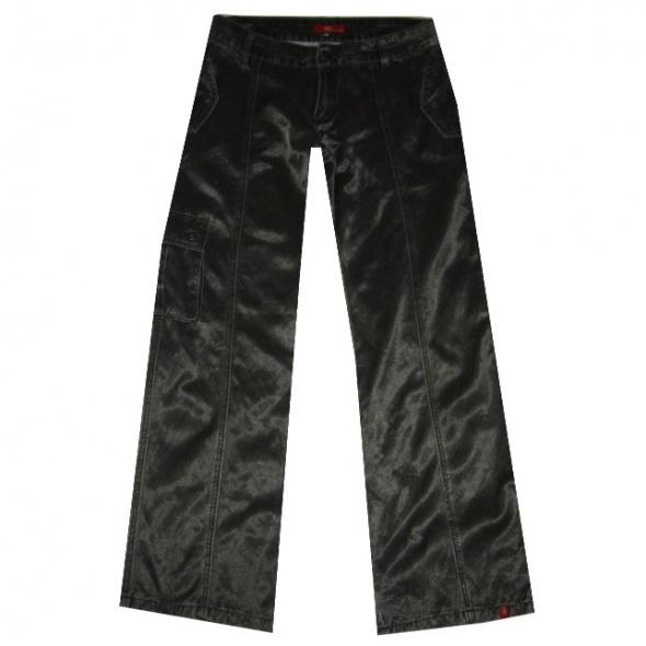 Spodnie ESPRIT Błyszczące Zielone Spodnie Bojówki 40 Nowe
