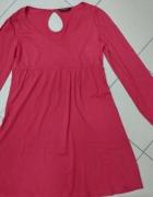 Tunika sukienka czerwona ceglasta FF L...