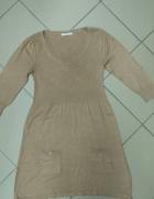 Tunika sukienka beżowa George 40 L...