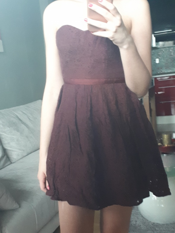 Bodrowa koronkowa sukienka Jack Wills XS 34