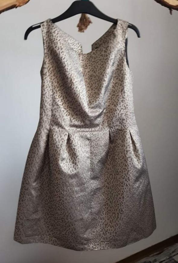 Złota sukienka L