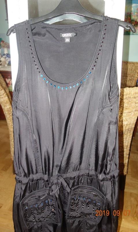 sukienka tunika kolorowe kamyki DKNY...