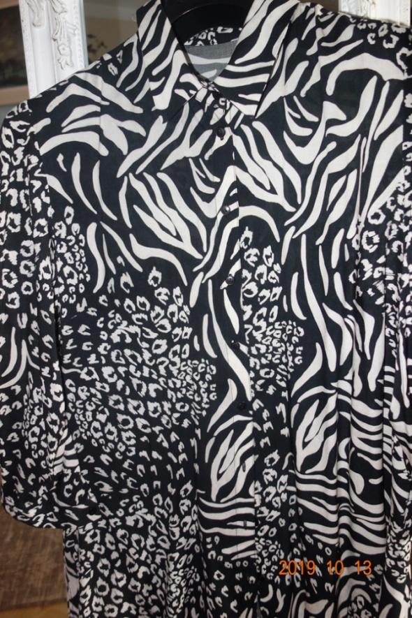 czarno biała koszula w zwierzęce wzory...