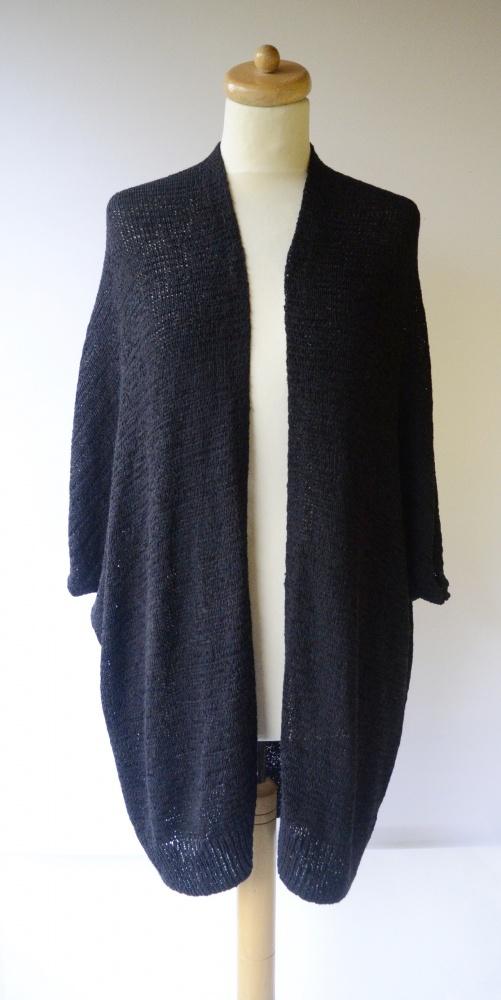 Sweter Czarny Cubus XS S 34 36 Narzutka Płaszczyk Kardigan...