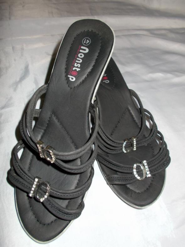 Klapki klapki na koturnie buty 40 41 gratis sandały