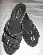 Klapki klapki na koturnie buty 40 41 gratis sandały...