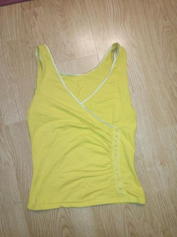 Żółta bluzka kopertowa...