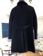 Śliwkowy płaszcz Benetton...