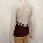 ADIDAS kremowo bordowa bluzka 38