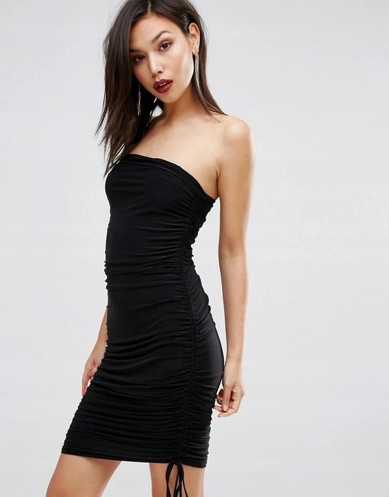 Sukienka marszczona obcisła ołówkowa rozmiar S...