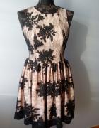 czarna koronkowa sukienka 34 bez rękawów...