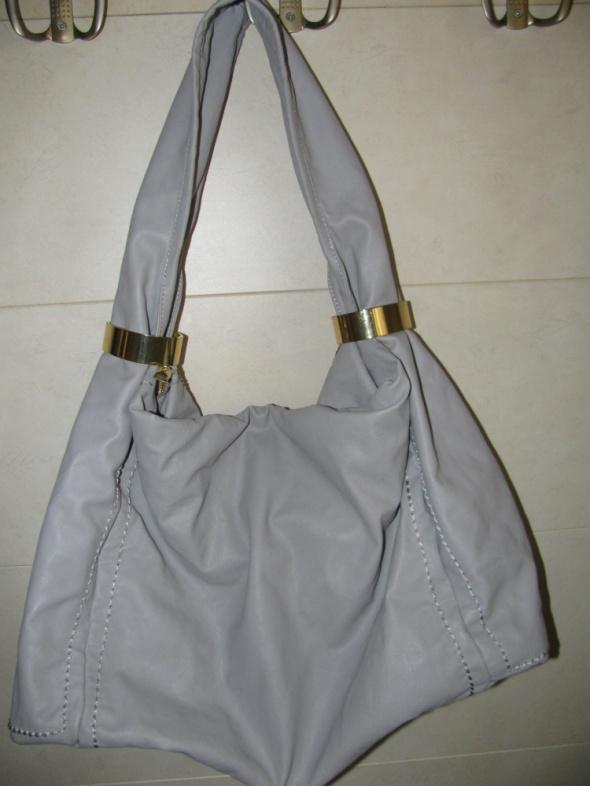 Nowa szara torba worek Jacky&Celie złote dodatki
