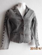 Bluza katanka marynarka szary jeans 38...