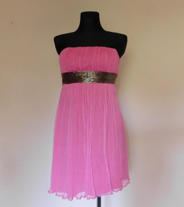 Suknie i sukienki River Island różowa sukienka jedwab 38 40