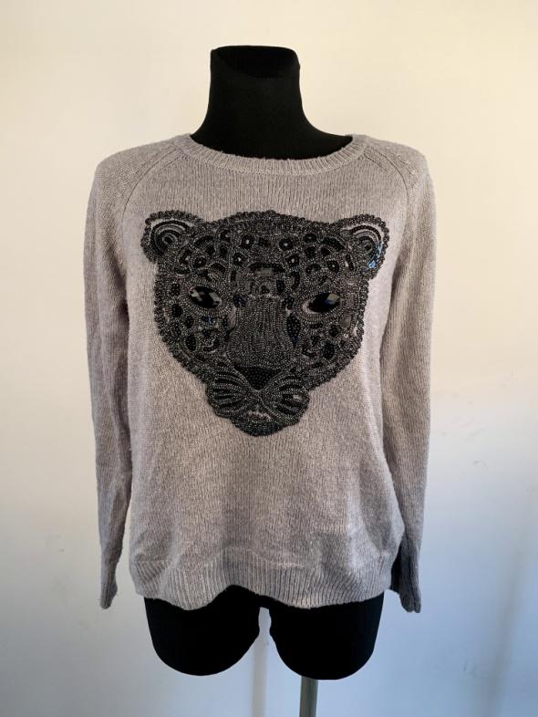 Bluzła dzianinowa H&M z logo w stylu kenzo sweterek...
