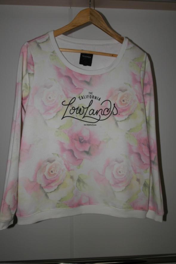 Bluzy Reserved bluza w kwiaty z nadrukiem r L
