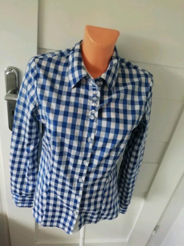 koszula biało niebieska krata M...