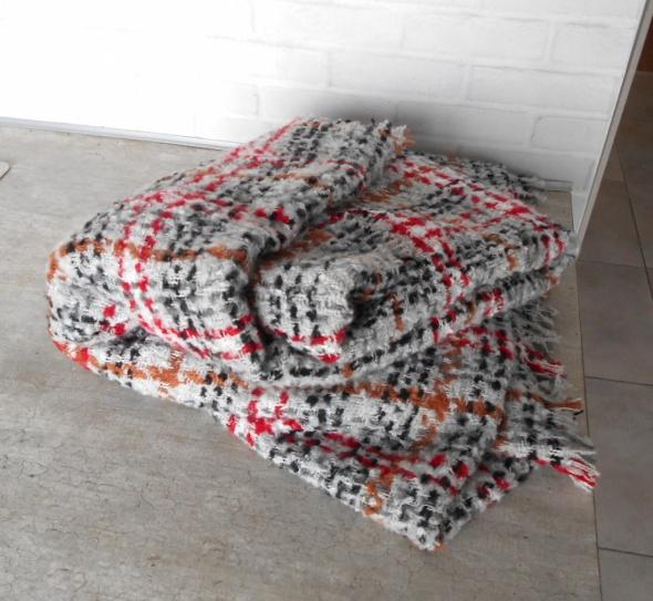 Zara nowy duży ciepły szalik w kratkę zimowy...