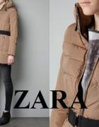 ZARA WOMAN kurtka płaszcz puchowy beżowy 36 S...