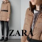 ZARA WOMAN kurtka płaszcz puchowy beżowy 36 S