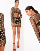 PRETTYLITTLETHING sukienka w kwiaty haft 42 XL