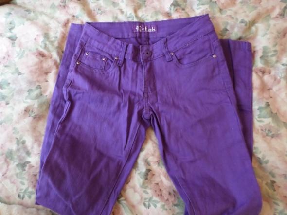 fioletowe spodnie rurki M 38