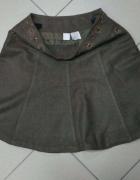 Spódnica brązowa ciepła zimowa wełna wełniana Camaieu 40...