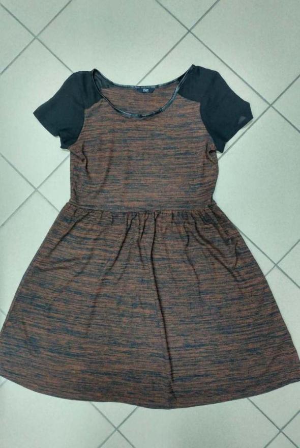 Suknie i sukienki Sukienka brązowa F&F 42