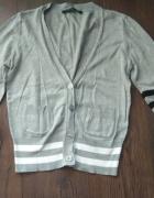 Sweter kardigan bluza zapinany szary sportowy 40 L...