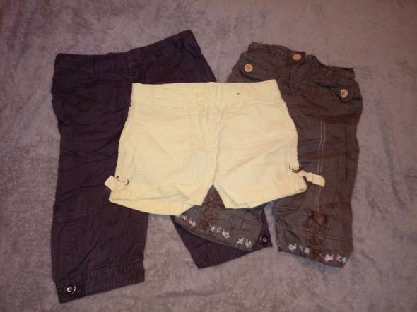 Spodnie i spodenki 3x spodenki dla dziewczynki Zara Next
