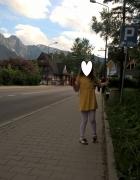 żółta słoneczna sukienka H&M...