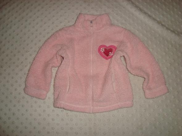 Bluzy polarek mega różowy puch