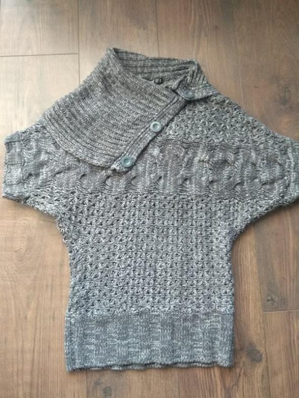 Szary sweter nietoperz rękaw 3 4 Atmosphere S 36...