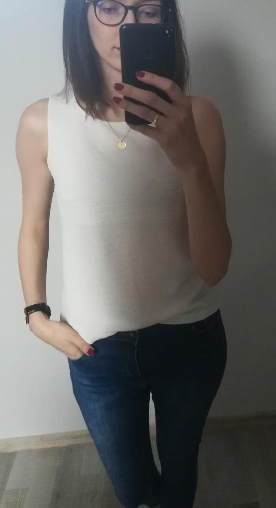 Biała bluzka na ramiączkach RESERVED M...
