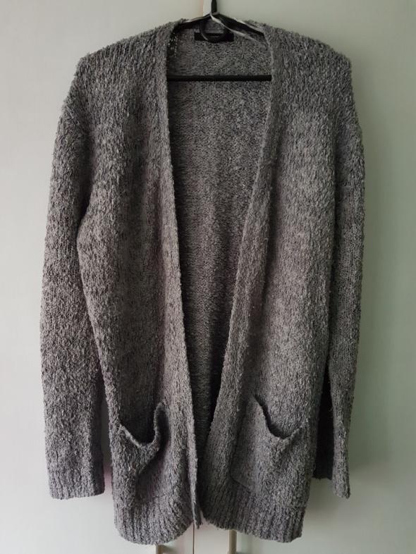 Szary sweterek kardigan oversize