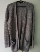 Szary sweterek kardigan oversize...