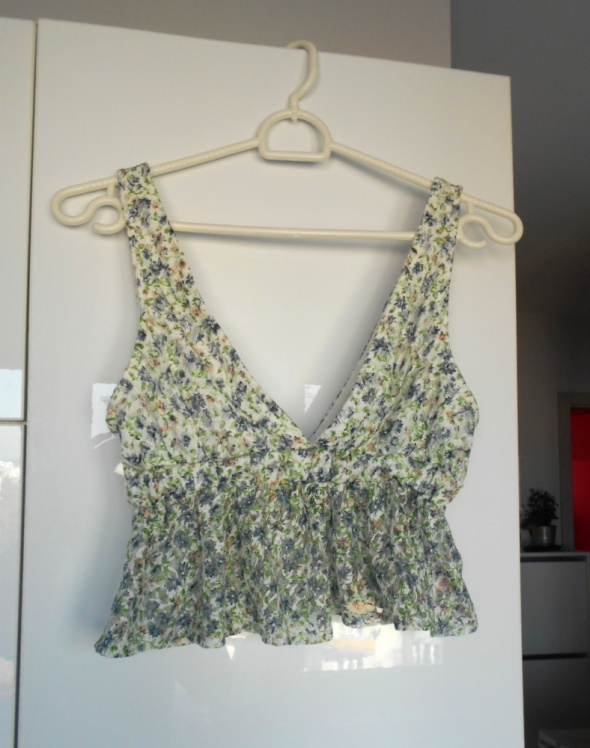 New Look floral crop top kwiaty baskinka...