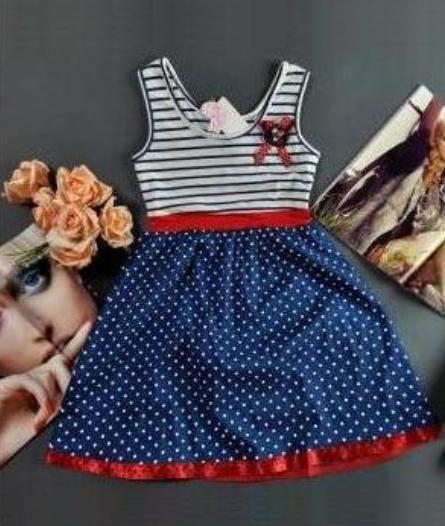 Marynarska sukienka Vintage