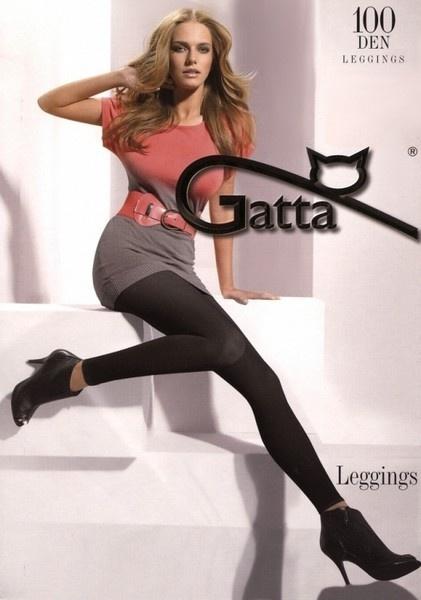 GATTA Legginsy 100 Den czarne r 5 XL