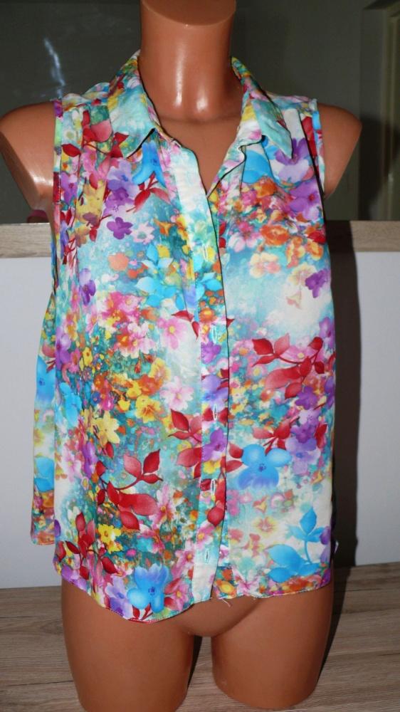 Asymetryczna koszula w kwiaty atmosphere M L...