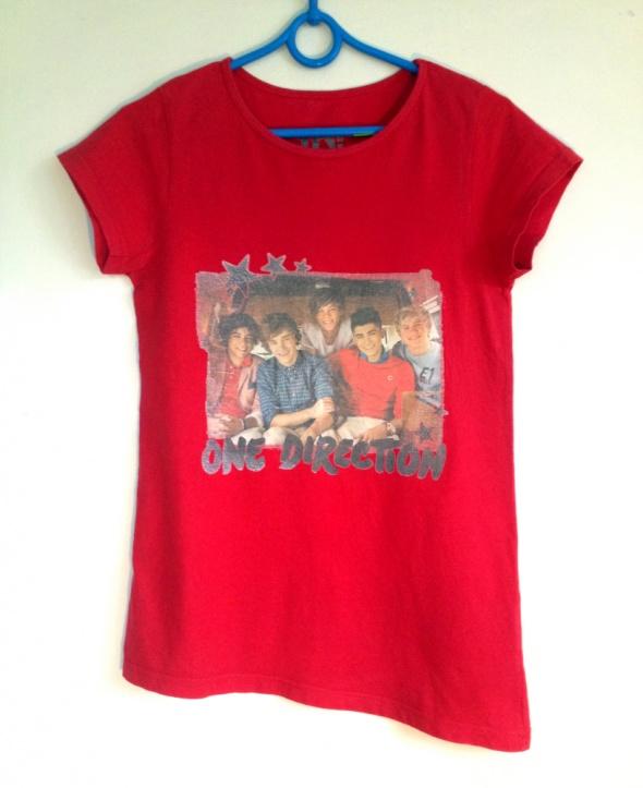 One direction koszulka fanki dłuższy bok czerwona