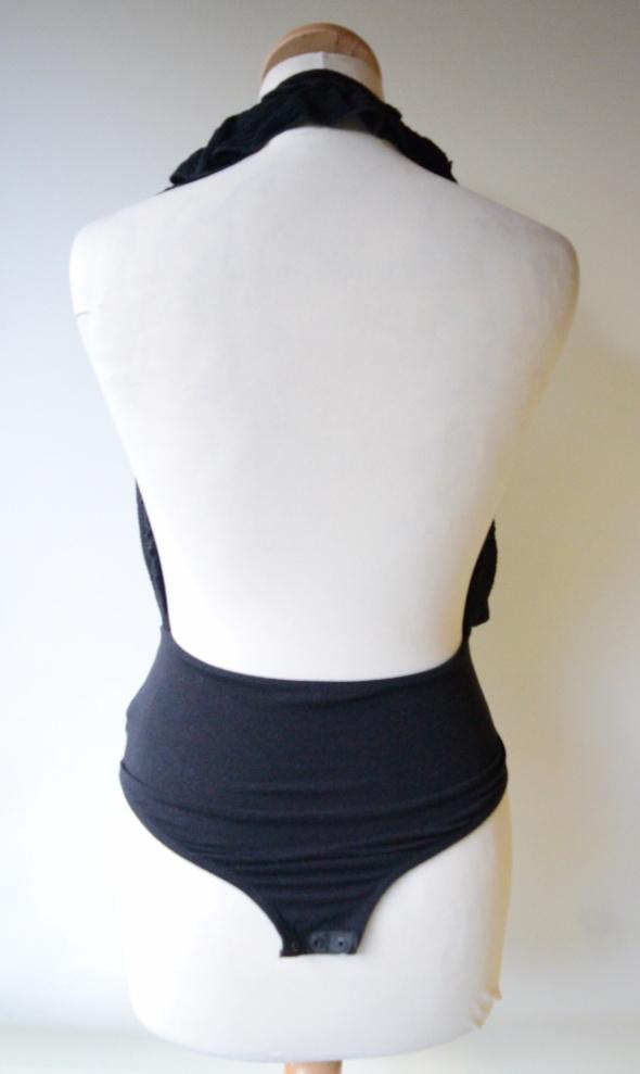 Body Sexy Zara Czarne Odkryte Plecy S 36 Dekolt...