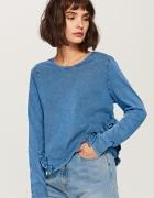 Nowa bluzka top Reserved XL 42 niebieska denim dżins jeans...